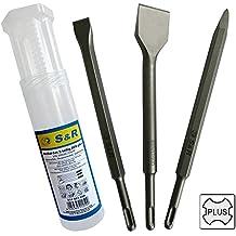 S&R conjunto cincel 3 piezas SDS-plus: cincel puntiagudo, cincel Tile, cincel plano. La calidad profesional