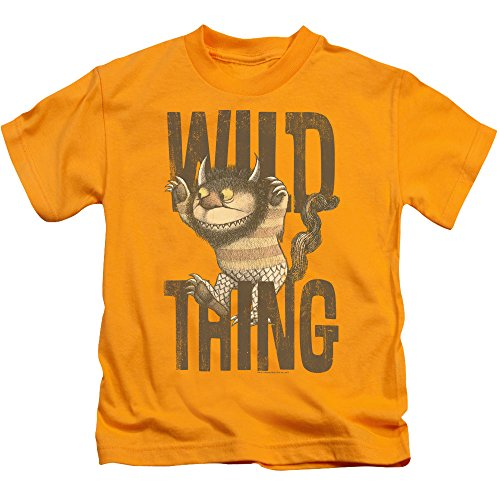 Where The Wild Things Are - Wo die Wilden Kerle sind - Jugend-wildes Sache-T-Shirt, Large (7), Gold