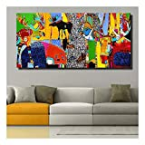 XIAOXINYUAN Modern Abstract Art Life In The Forest Poster Da Parete Immagini Stampate Per Living Room Pictures Home Decor 70X140Cm