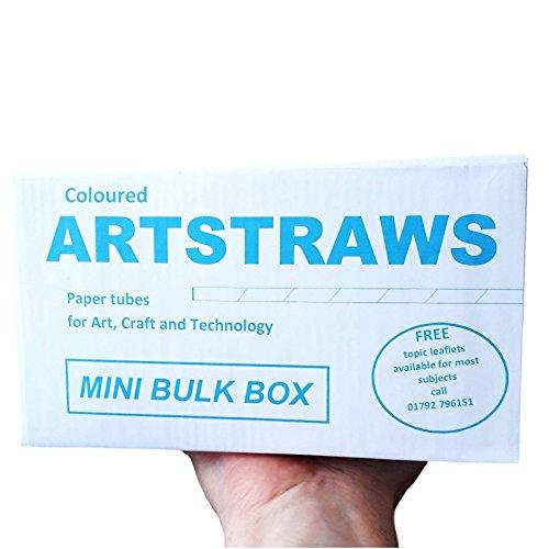 Artstraws MINI SCHOOL PACK COLOURED PAPER STRAWS ART STRAWS GREEN RED YELLOW BLUE 6mm