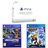 PlayStation 4 (PS4) 500 GB Consola - (Reacondicionado Certificado) - Chasis C + Uncharted: The Nathan Drake Collection + Ratchet & Clank