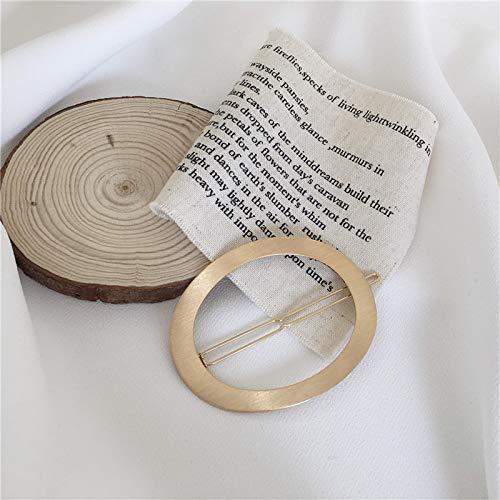 Chwewxi Hong Kong-Stil Retro alte Matte geometrische Haarnadel Korea ins hohlen elliptischen oberen Clip eine Ordner weiblich F095, (Gold plattiert) Alten Clip (Geometrische Ordner)