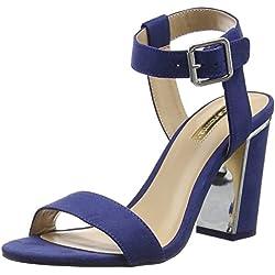Jane Norman Damen 2 Part Block Heel Pumps, Blau (Marineblau), 37 EU