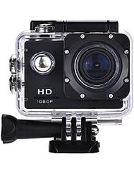 Lyhoon 1080P HD Sport Caméra 2.0 '' imperméable à l'eau sous-marine 30m 120 degrés lentille écran Sport DV Cam DVR avec plusieurs accessoires pour vélo moto Surf Ski Natation Plongée etc.