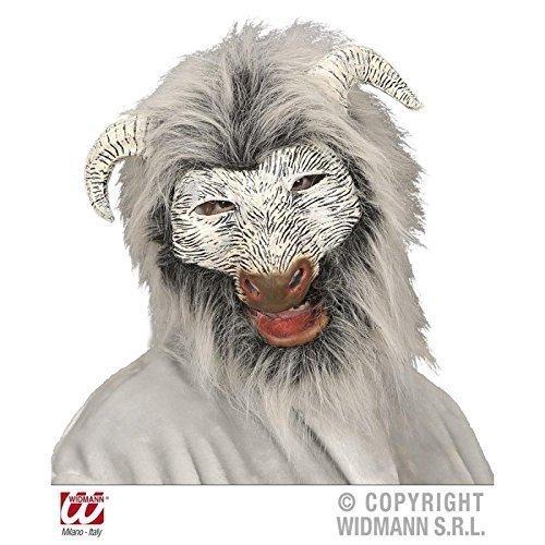 Lively Moments Ziegenmaske / Tiermaske / Mask aus Plüsch und Latex
