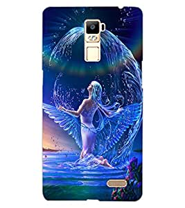 ColourCraft Beautiful Angel Design Back Case Cover for OPPO R7