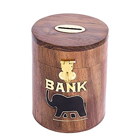 Coin Bank oval rusticity Elefant