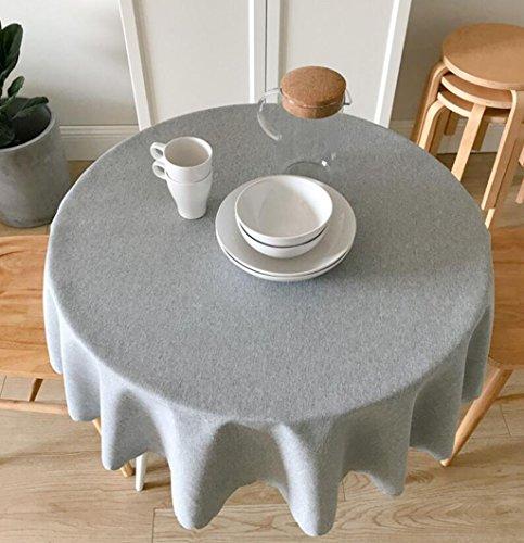 Ww&H La tovaglia Impermeabile Europea Moderna Semplice fornisce la tovaglia Rotonda del Ristorante del Tessuto del Panno della tovaglia Rotonda Intorno alla casa (Colore : Gray, Dimensioni : 160cm)
