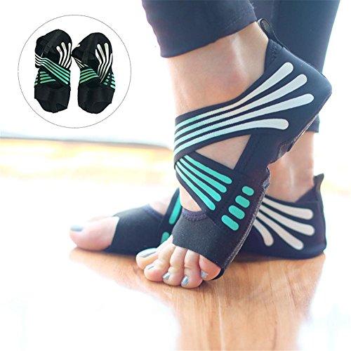 Socken, Ballet Schuhe (Arvin87Lyly Fünf Zehen Yoga Socken Yoga Schuhe Anti Rutsch Atmungsaktiv Schuhe Frauen Half Toe Elastisch Socken für Ballet Weich Bequem Schweiß Verschleißfest)
