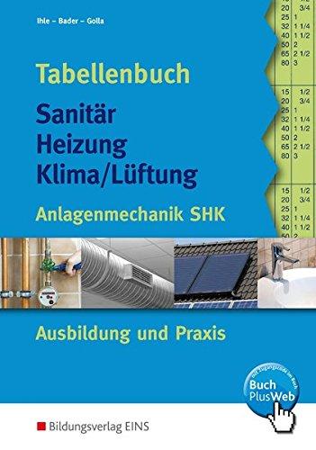 Tabellenbuch Sanitär, Heizung, Lüftung. Anlagentechnik SHK Ausbildung und Praxis (Lernmaterialien) - Heizung Handwerk