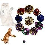 CricTeQleap Spielzeug f¨¹r Haustiere, 12Pcs lustige helle Farbe Papier Ball Katzen K?tzchen Spielzeug Spielen Haustier interaktive Set