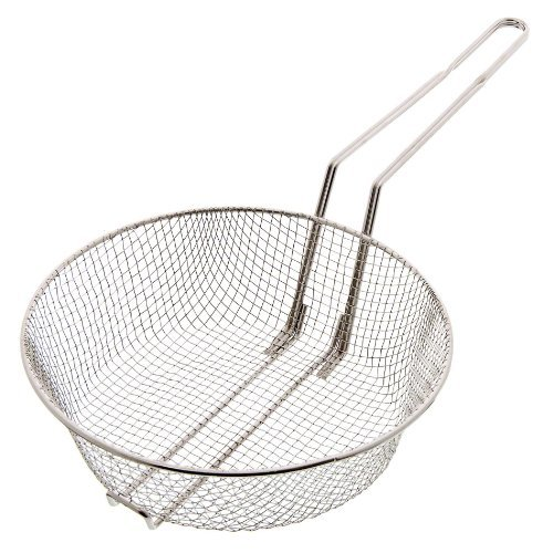 update-international-cub-10m-10-nickel-plated-medium-mesh-culinary-basket-by-food-service-warehouse