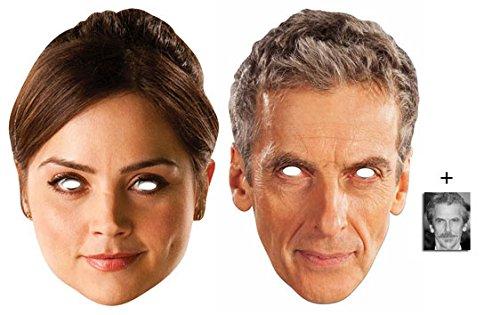 Kostüm Doctor Who Peter Capaldi (Peter Capaldi De 12 Doctor Who und Clara Oswald Karte Partei Gesichtsmasken (Maske) Packung von 2 - Enthält 6X4 (15X10Cm))