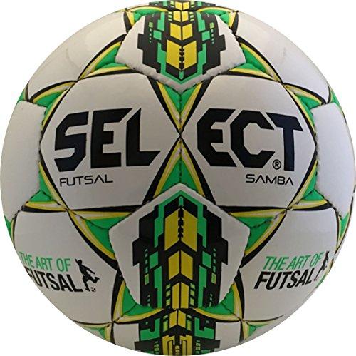 Seleccione deporte América Select Sport Samba–Balón de fútbol sala, tamaño Senior Samba Lisaro–Balón, color blanco/verde