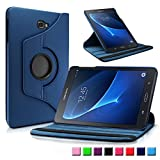 Samsung Galaxy Tab A 10.1 Funda Case, Infiland PU Cuero 360°Rotación Smart Cover Cascara con Soporte para Samsung Galaxy Tab A 10.1 pulgadas (2016) Tablet-PC(con Auto Reposo / Activación Función)(Azul Oscuro)