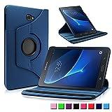 Infiland Galaxy Tab A 10.1 Hülle Case, PU lederhülle 360° Drehbarer Stand Smart Cover Schutzhülle Tasche Etui für Samsung Galaxy Tab A 10.1 (2016)(mit Auto Schlaf/Wach Funktion)(Dunkleblau)