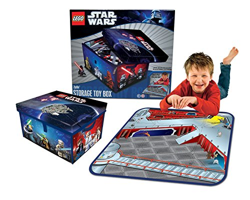 ROOM STUDIO 530214 Set Star Wars Box Spiel- und Sticker repositionierbar Polyester blau/schwarz 34,30 x 30,5 x 20,3 cm (2 In Einem Star-wars-lego-sets)