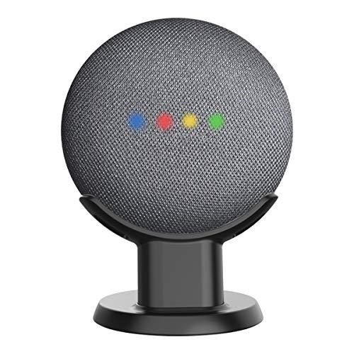 Wigoo支持Google Home Mini  - 桌子和桌面支架,提高可视性和声音外观,在厨房,浴室和卧室中保持紧凑安全(黑色)