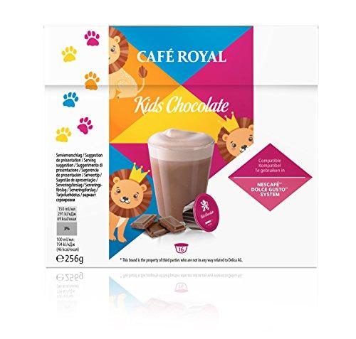 Café Royal Kids Chocolate Neue Generation, 48 kompatible Kapseln für Nescafé Dolce Gusto, 3er...