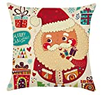 Drawihi 45* 45cm ufficio divano auto cuscino stile Babbo Natale, Panno, Multicolore-C, 45 x 45 cm immagine