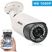 """KKmoon Cámaras IP de Vigilancia 1080P HD POE 2.0MP 6mm 1/2.9"""" CMOS P2P Onvif 42PCS Lámparas IR Vista Nocturna IR-CUT Detección de Movimiento Impermeable Control de Phone APP para Seguridad de Hogar"""