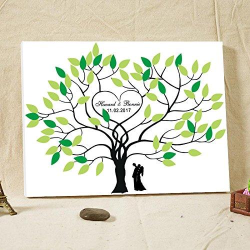 Hochzeit Gästebuch Alternative Baum Herzen Hochzeit willkommen Schild Leinwandbild Gästebuch Hochzeit für den Zubehör Geburtstag Geschenk Andenken