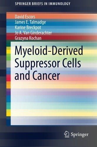 Myeloid-Derived Suppressor Cells and Cancer (SpringerBriefs in Immunology) by David Escors (2016-04-16) par David Escors;James E. Talmadge;Karine Breckpot;Jo A. Van Ginderachter;Grazyna Kochan