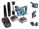 Bosch GBL 18 V-120 Akku Gebläse Laubbläser mit 2x Bosch GBA 18 V 6,0 Ah Akku + GAL 1880 CV Ladegerät