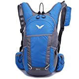 SHTH 30L Herren Damen Fahrrad Reise Wander Rucksack Backpacks Trekking Camping Rucksäcke Radfahren Schultertaschen,45*25*20cm (Blau)