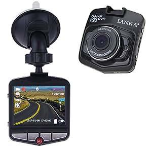 LANKA® Full HD 1080P Car Dash Cam Dashboard Camera DVR Video & Audio driving Recorder with 32GB Micro SD Card (Black)
