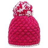 GIESSWEIN Mädchenmütze Flohspitze - warme Winterkappe für Mädchen mit Merinowolle, Flauschiger Bommel aus Wolle, kuscheliges Innenfutter aus Fleece, Kinderbeanie, süße Strickhaube