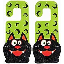 VORCOOL 2pcs Gancho de la Puerta Decorativa Muestra del Gancho del Gato diseño de Halloween Colgando de la Puerta Adornos de decoración