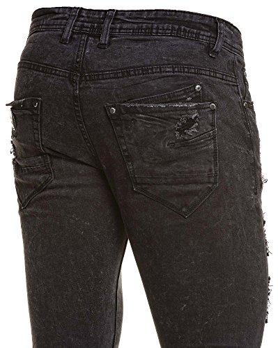 Project X - Dünne schwarze Jeans zerstören Mann Schwarz