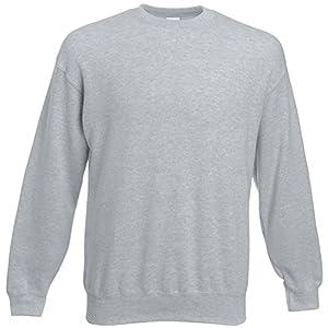 Fruit of the Loom - Set-In Sweatshirt - heather grey - Größe: M