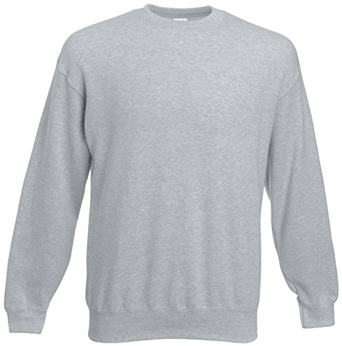 Fruit of the Loom - Set-In Sweatshirt - heather grey - Größe: XL