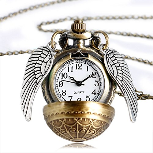 Collar snitch dorada Harry Potter con el reloj colgante
