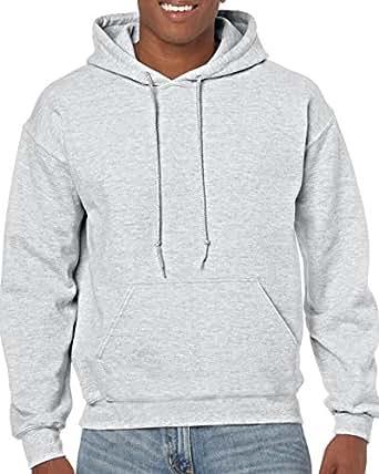 Gildan Hooded Sweatshirt Heavy Blend Plain Hoodie Pullover Hoody Ash S