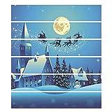ZHANGQI Treppen Aufkleber Weihnachten Dekoration DIY Wohnzimmer Schlafzimmer Treppenaufkleber Restaurant Hotel Treppenstufen PVC Wasserdicht Kreativ Aufkleber,100 * 18cm*6PCS