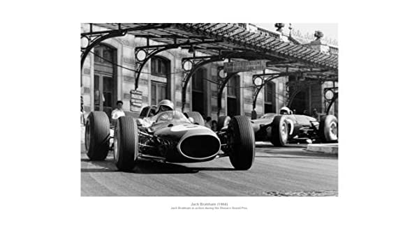 Jack Brabham 1964 Monaco Grand Prix Formula One Photo Memorabilia
