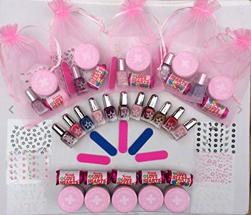 10 X Younger Girls Birthday Pamper Party Manicure Gift Bag Princess Pink