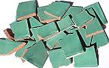 900g Bruchmosaik, Mosaikfliesen aus handgefertigten Fliesen - grün gewaschen