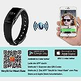 AsiaLONG Fitness Armband mit Pulsmesser – Puls Armband Schrittzähler Fitness Tracker Aktivitätstracker mit Schlafanalyse, Kalorienzähler, Vibrationswecker Anruf SMS Whatsapp Vibration für iOS und Android Handy (Upgrade) - 8