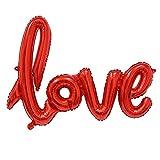 Wicemoon Romantische Ligaturen Love Buchstabe Folienballon Jahrestag Hochzeit Valentines Party Urlaub und Besondere Anlässe Celebration Aluminium Ballon Rot