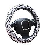 Liying Leopard Trendige, flauschig Lenkradhülle bequeme Weiches Warm Super Gefühl Furry Auto Lenkradbezug