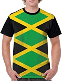 Gorgeous Socks Mens Short Sleeve Crew Neck Sport Shirt Jamaica Flag Tops t-Shirt