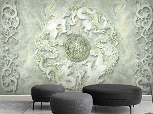 WTD - Poster da parete in HD con drago e fenice in rilievo, effetto 3D,...