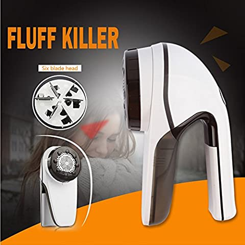 Rasoir anti-bouloche,Cymall Portable Vêtements Lint Fuzz Shaver Pill Fluff Remover Tissus Pulls Electric Fuzz Shaver 220V (Lint Shavers)