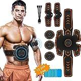 ShuBel Electrostimulateur Musculaire, Ceinture Abdominale Electrostimulation Femme Homme Conception de Charge USB et EMS...