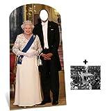 Fanbündel - Queen Elizabeth II Stand-in Lebensgrosse Pappfiguren / Stehplatzinhaber / Aufsteller - Enthält 8X10 (25X20Cm) starfoto