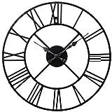 Horloge en métal Chiffres romains Noir